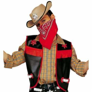 Cowboy gilet voor kinderen zwart