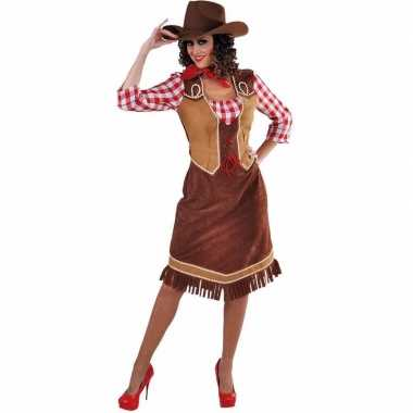 Cowboy jurk met geruite blouse voor dames