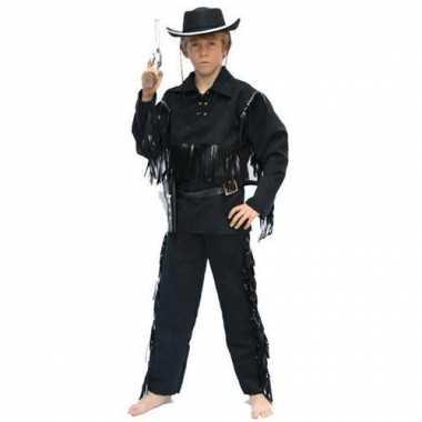 Cowboy kostuums zwart voor kinderen