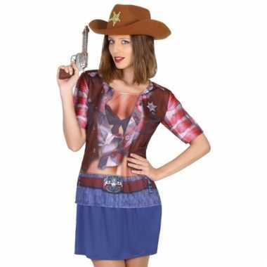Cowboy shirt verkleedoutfit voor dames