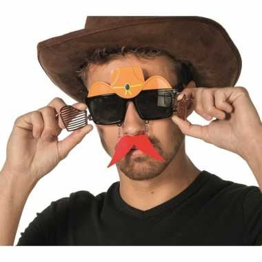 Cowboy snorbril voor volwassenen