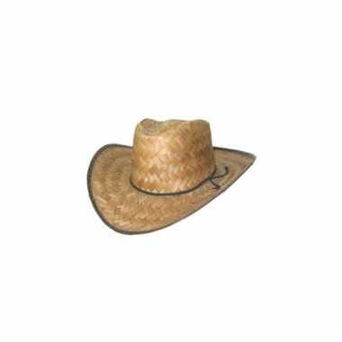 Cowboyhoed van stro