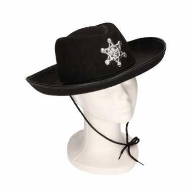 Cowboyhoeden voor kinderen zwart