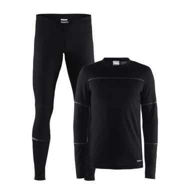 Craft thermo ondergoed set zwart voor heren