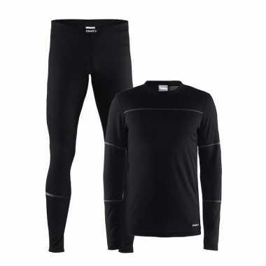 Craft thermo wintersport ondergoed set zwart voor heren