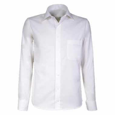Creme business overhemd voor heren