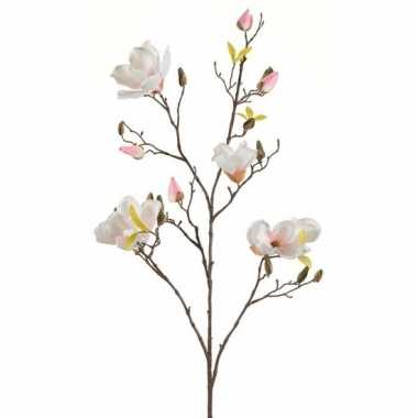 Creme magnolia kunstbloem 105 cm