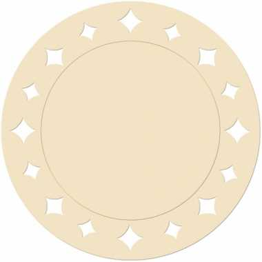 Creme wegwerp placemats 33 cm