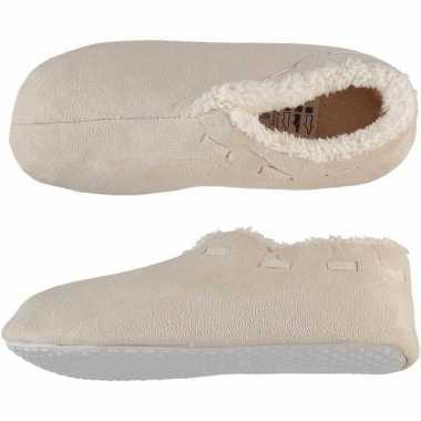 Creme witte spaanse sloffen/pantoffels voor dames