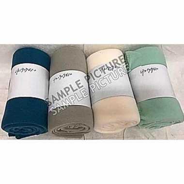 Creme witte warme fleece deken 130 x 160 cm