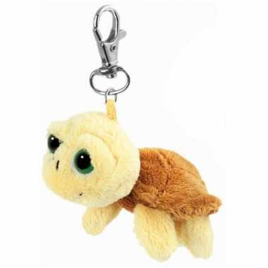 Creme zeeschildpadje aan sleutelhanger