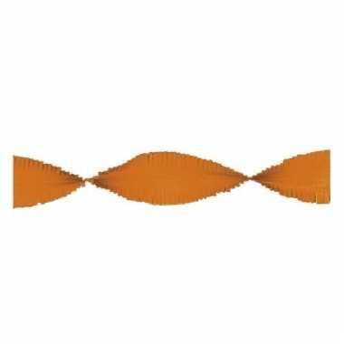 Crepe papier slinger oranje 24 meter