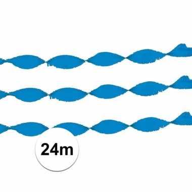 Crepe slinger licht blauw 24 meter