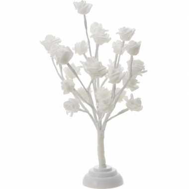 Decoratieve rozenboom warm wit 24 led 40 cm