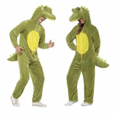 Dieren kostuum krokodil voor volwassenen