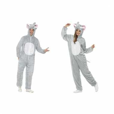 Dieren kostuum olifant voor volwassenen