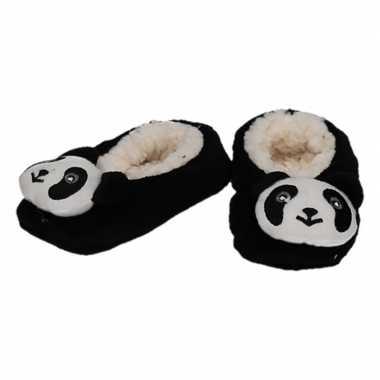 Dieren pantoffels/sloffen pandabeer voor kinderen