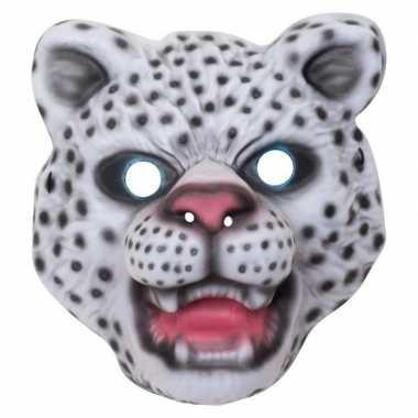 Dierenmasker verkleed sneeuwluipaard voor kinderen
