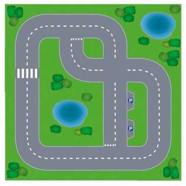 Dorpje diy speelgoed stratenplan/ kartonnen speelkleed