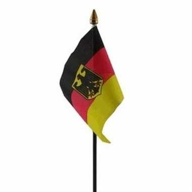 Duitsland met adelaar vlaggetje polyester