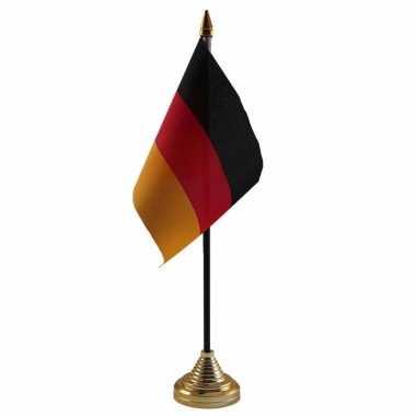 Duitsland versiering tafelvlag 10 x 15 cm