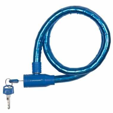 Dunlop kabelslot blauw voor de fiets 80 cm