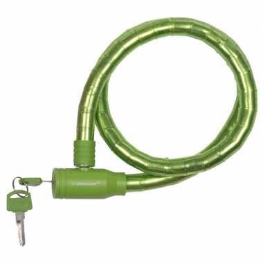 Dunlop kabelslot groen voor de fiets 80 cm