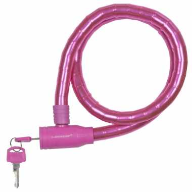 Dunlop kabelslot roze voor de fiets 80 cm