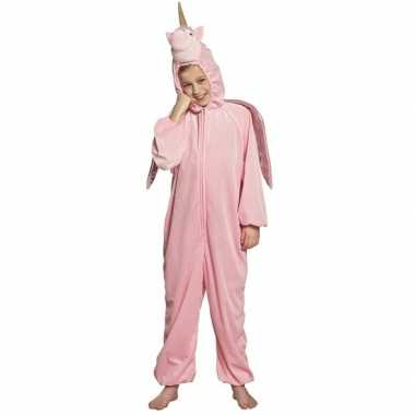 Eenhoorn onesie voor kinderen roze