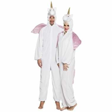 Eenhoorn onesie voor volwassenen wit