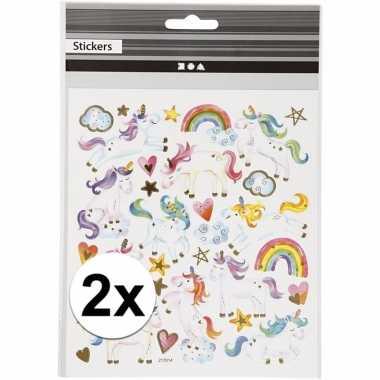 Eenhoorn stickers 2 vellen