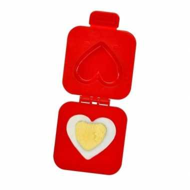 Eiervormer hartvorm rood bruiloft cadeau