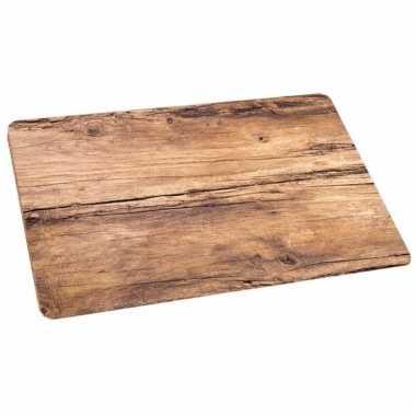 Eikenhout opdruk placemat 44 x 28,5 cm