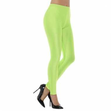 Elastische dames legging neon groen