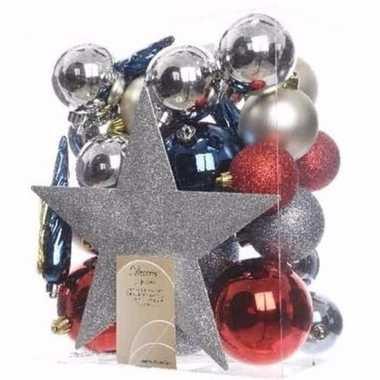 Elegant christmas kerstboom decoratie set 33-delig