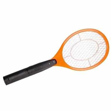 Elektrische vliegenmepper oranje