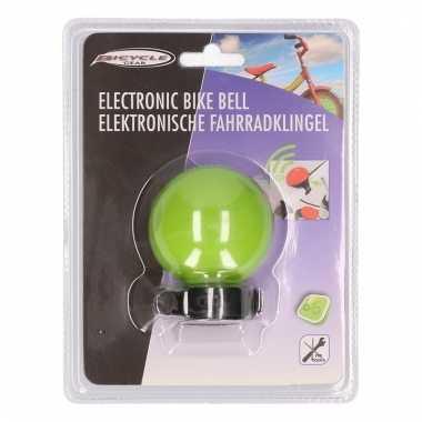 Elektronische bel voor de fiets in het groen