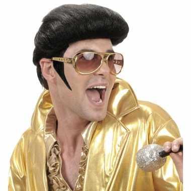 Elvis bakkebaarden zwart