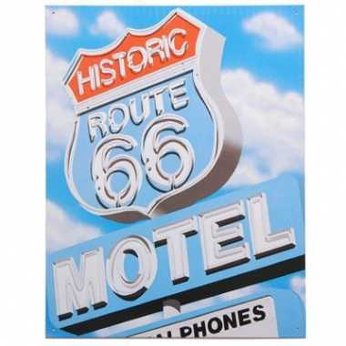 Emaille plaat route 66 reclame
