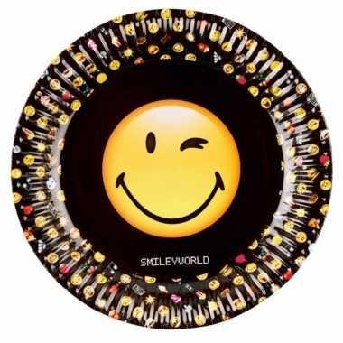 Emoji feestbordjes 8 stuks