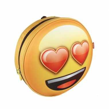 Emoji schooltas 3d liefdes emoticon voor kinderen