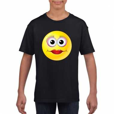 Emoticon diva t-shirt zwart kinderen