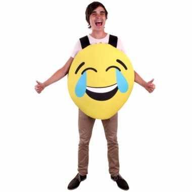 Emoticon instap kostuum lachend voor volwassenen