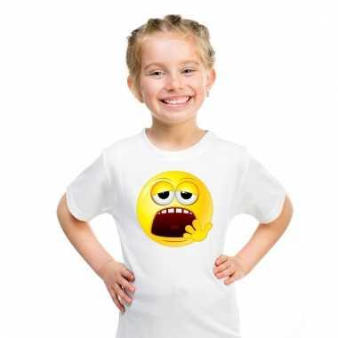 Emoticon moe t-shirt wit kinderen