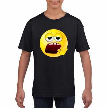 Emoticon moe t-shirt zwart kinderen