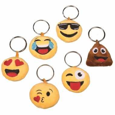 Emoticon sleutelhanger met geluid cool gezicht