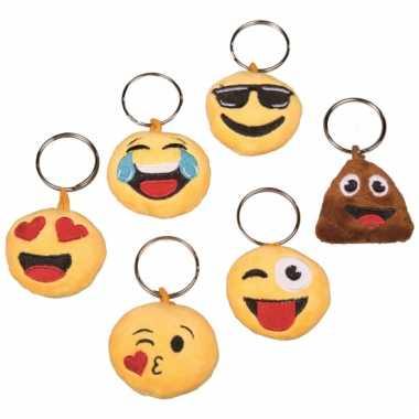 Emoticon sleutelhanger met geluid gek gezicht