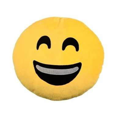 Emoticon smileys kussentje happy 30 cm
