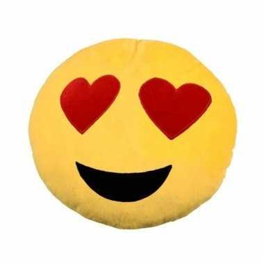 Emoticon smileys kussentje verliefd 30 cm