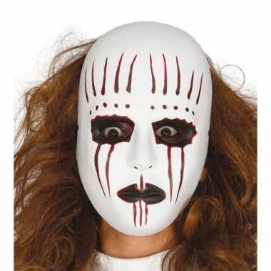 Eng mime masker met bloed